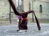Kunstvermittlung Klement, Petra Deus, Performance Stabaermel 1 von 3, Foto Petra Deus