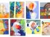 Friederike Graben: Aquarelle auf Papier