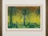 Andreas Scholz – Oase, 50x65 cm, gerahmt unter Glas 75x86 cm, Kupferdruck auf Papier, Verkaufspreis: 300,-€