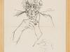 Ernst-Günter Hansing – ohne Titel, 50x40 cm, gerahmt unter Glas 52x42 cm, Vorzeichnung Tusche auf Büttenpapier, Verkaufspreis: 250,-€