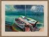 Fuchte – ohne Titel, 50x70 cm, gerahmt unter Glas 70x90 cm, Tempera auf Karton, Verkaufspreis: 300,-€