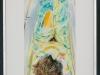 Arnold Daidalos Wande – Liegende Frau in Badewanne, 35x21 cm, gerahmt unter Glas 57x40 cm, Mischtechnik auf Papier, Einstiegsgebot: 600,-€