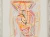 Günther Klumpe – ohne Titel, 44x35 cm, gerahmt unter Glas 50x34 cm, Kreide auf Büttenpapier, Einstiegsgebot: 250,-€