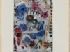 Hubert Schmalix – ohne Titel, 24x17 cm, gerahmt unter Glas 40x30cm, Mischtechnik auf Papier, Preis auf Anfrage