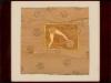 Peter Bömmels – Der Tor Jäger, 30x30 cm, gerahmt unter Glas 45x49 cm, Mischtechnik auf Holz, Preis auf Anfrage