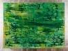 U. Lipp – ohne Titel, 90x120 cm, gerahmt Holz mit Blattsilber 103x132 cm, Öl auf Leinwand, Preis auf Anfrage