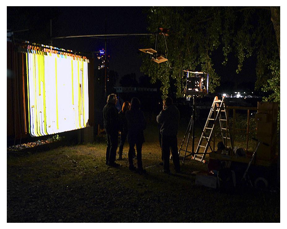 Przemek Nowak: Projektion in der GALERIE LEHM, der Kunstraum im